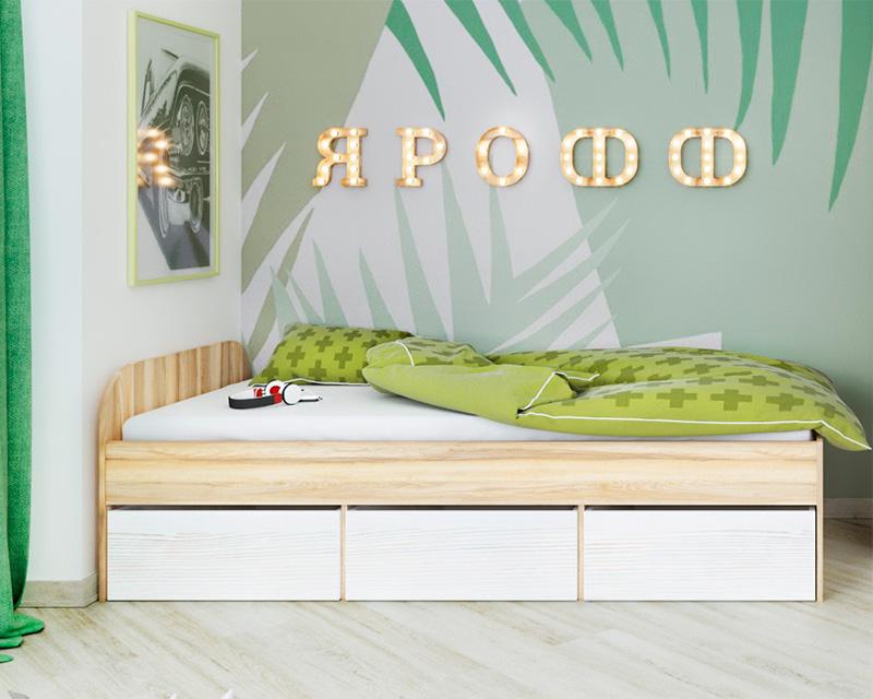 Кровать 2032х932х650